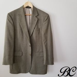 Jos. A. Bank Blazer Gold Tan Beige Brown Wool